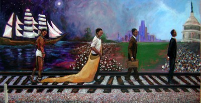 The Journey by Ted Ellis Image is watermarked for copyright protection and is not present on the actual art work.