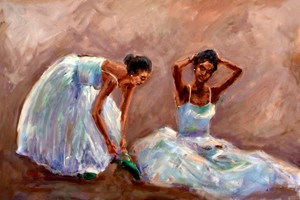 The Love of Dance by Ted Ellis Image is watermarked for copyright protection and is not present on the actual art work.