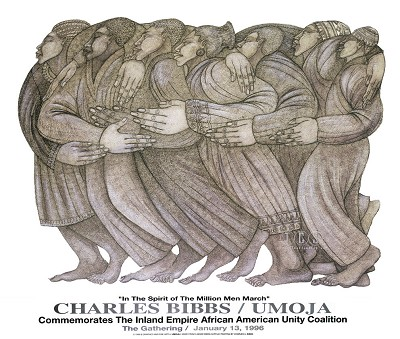 Umoja Commemorative Remarque by Charles Bibbs Image is watermarked for copyright protection and is not present on the actual art work.