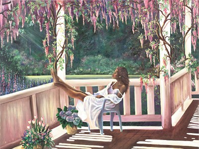 Afternoon Dreams Giclee by Gamboa Image is watermarked for copyright protection and is not present on the actual art work.
