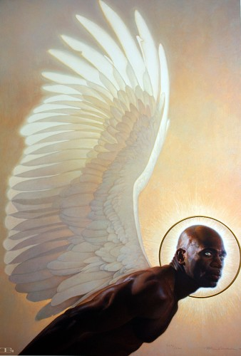 The Watcher by Thomas Blackshear Image is watermarked for copyright protection and is not present on the actual art work.