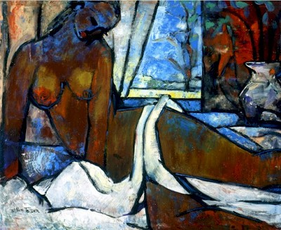 Ascending Nude Estate Certified Seigraph by William Tolliver Image is watermarked for copyright protection and is not present on the actual art work.
