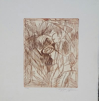 Etching #14 Artist Signed by William Tolliver Image is watermarked for copyright protection and is not present on the actual art work.