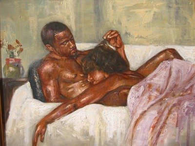 After Glow by Alonzo Adams Image is watermarked for copyright protection and is not present on the actual art work.