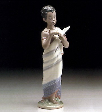 African Boy by Lladro Black Legacy Image is watermarked for copyright protection and is not present on the actual art work.