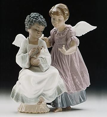 Angelic Harmony by Lladro Black Legacy Image is watermarked for copyright protection and is not present on the actual art work.