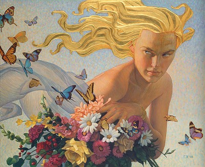Golden Breeze Anniversary Edition by Thomas Blackshear Image is watermarked for copyright protection and is not present on the actual art work.