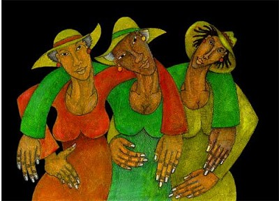 Hats Giclee by Charles Bibbs Image is watermarked for copyright protection and is not present on the actual art work.