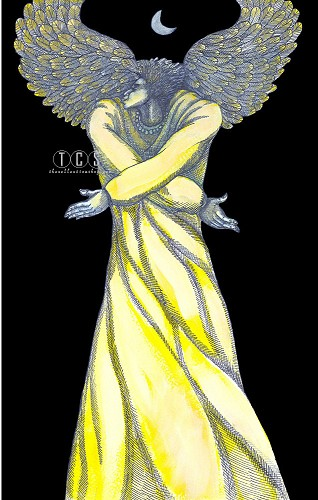 Angel Of Light Giclee by Charles Bibbs Image is watermarked for copyright protection and is not present on the actual art work.