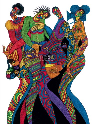 In Living Color Giclee by Charles Bibbs Image is watermarked for copyright protection and is not present on the actual art work.