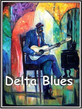 Delta Blues Estate Signed by William Tolliver Image is watermarked for copyright protection and is not present on the actual art work.