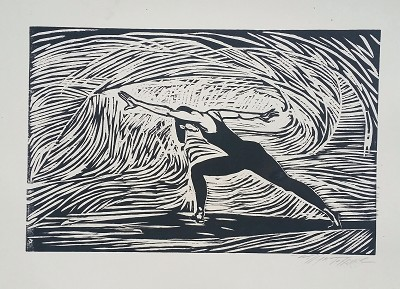 Etching Dancer Artist Signed by William Tolliver Image is watermarked for copyright protection and is not present on the actual art work.
