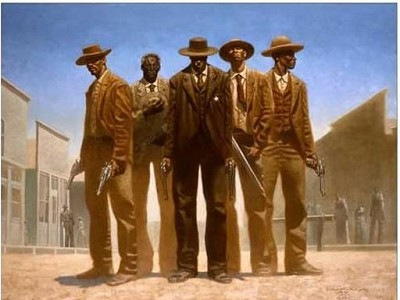 High Noon Limited Edition Paper Remarque by Kadir Nelson Image is watermarked for copyright protection and is not present on the actual art work.