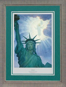 Liberty Framed Print - Limited Edition by Thomas Blackshear Image is watermarked for copyright protection and is not present on the actual art work.
