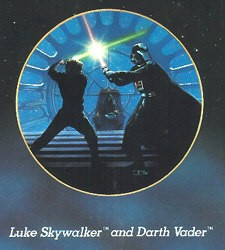 Star Wars Series - Luke And Darth Vader by Thomas Blackshear Image is watermarked for copyright protection and is not present on the actual art work.