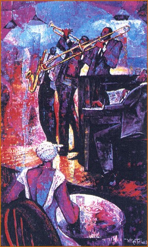 Midnight Serenade - Serigraph Artist Signed by William Tolliver Image is watermarked for copyright protection and is not present on the actual art work.