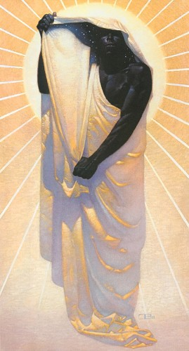 Night In Day - Unframed Canvas by Thomas Blackshear Image is watermarked for copyright protection and is not present on the actual art work.