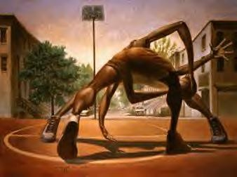 One On One by Kadir Nelson Image is watermarked for copyright protection and is not present on the actual art work.