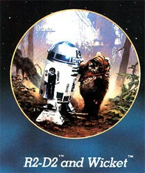 Star Wars Series - R2d2 And Wicket by Thomas Blackshear Image is watermarked for copyright protection and is not present on the actual art work.