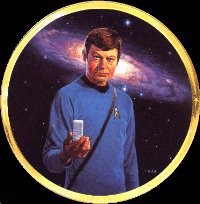 Star Trek Dr. Mccoy 25th Anniversary Plate by Thomas Blackshear Image is watermarked for copyright protection and is not present on the actual art work.