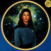 Next Generation Crew - Counselor Troi by Thomas Blackshear Image is watermarked for copyright protection and is not present on the actual art work.