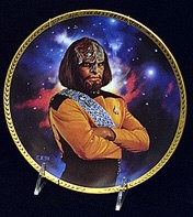Next Generation Crew - Lt. Worf by Thomas Blackshear Image is watermarked for copyright protection and is not present on the actual art work.