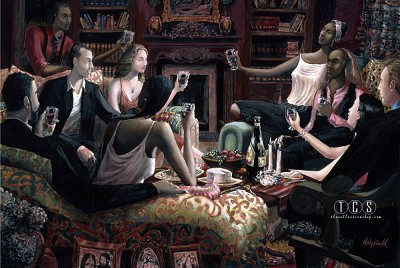The Toast by John Holyfield Image is watermarked for copyright protection and is not present on the actual art work.