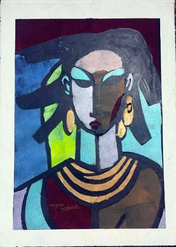 Sheba Artist Signed by William Tolliver Image is watermarked for copyright protection and is not present on the actual art work.