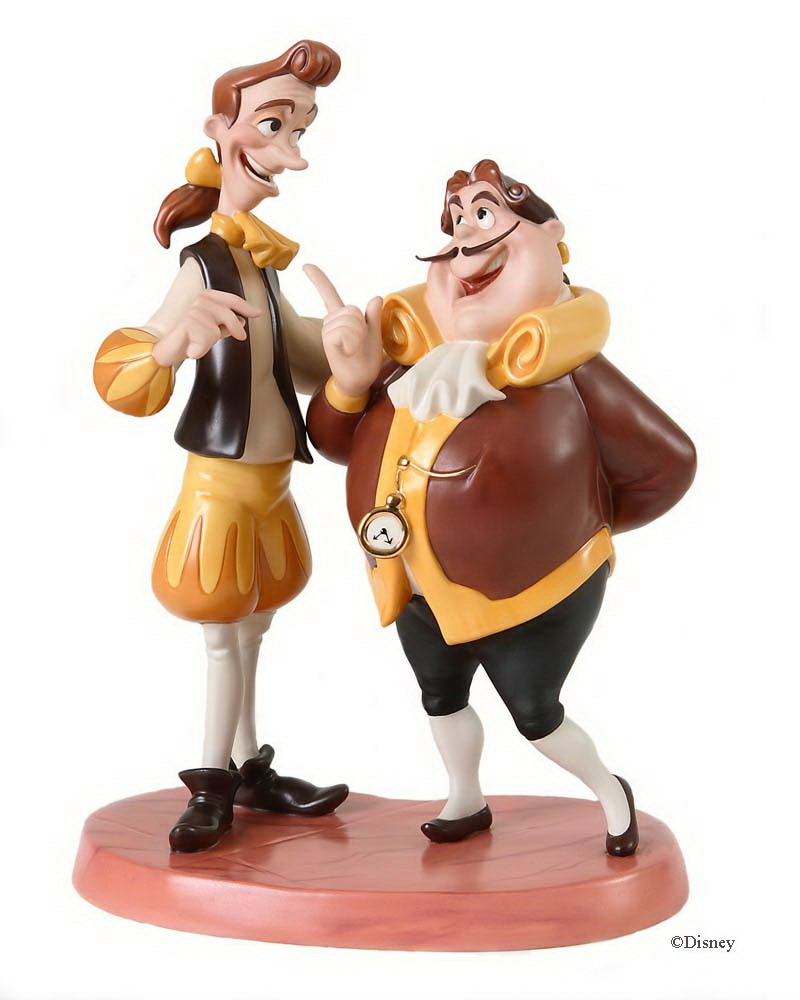 WDCC Disney Classics Beauty And The Beast Cogsworth Lumiere Enlarge Image