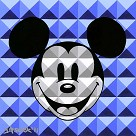 8 Bit-Block Mickey Blue
