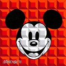 8 Bit-Block Mickey Red