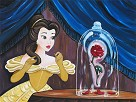 Enchanted Rose Hand Embellished Giclee on Canvas - From Disney Beauty and The Beast