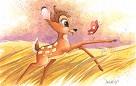 In The Meadow From Disney Bambi Custom Framed