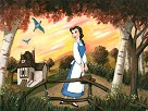 Little Town Giclee on Canvas - From Disney Beauty and The Beast