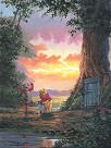 Good Morning Pooh Giclee on Canvas