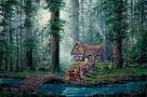 Morning Walk Giclee on Canvas - From Disney Snow White and the Seven Dwarfs