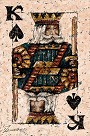 King of Spades H/E Giclee on Hand-Textured Canvas