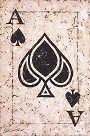 The Ace of Spades H/E Giclee on Hand-Textured Canvas