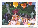 Tea with Alice Hand-Remarqued by the Artist on Hand-Deckled Paper - From Alice in Wonderland