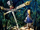 Alice In Wonderland All Roads Lead to the Mad Hatter Giclee on Canvas