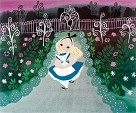 Alice in the Garden Giclee on Canvas