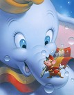 Smile Dumbo Giclee on Canvas