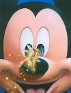 Smile Mickey and Tinker Bell Giclee on Canvas