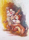 Chip And Dale Gicl�e On Canvas