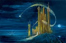The Gold Castle Giclee On Canvas