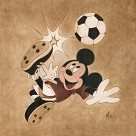 Kick For The Goal Giclee On Canvas - From Mickey Mouse