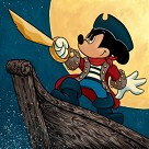 Pirate Mickey Giclee On Canvas