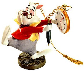 WDCC Disney Classics Alice In Wonderland White Rabbit No Time To Say Hello-Goodbye
