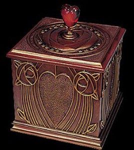Ebony Visions Heart Treasusres Box
