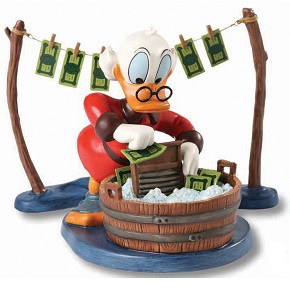 Wdcc Disney Classics Uncle Scrooge Laundry Day 4024290
